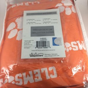 Clemson twin bed skirt